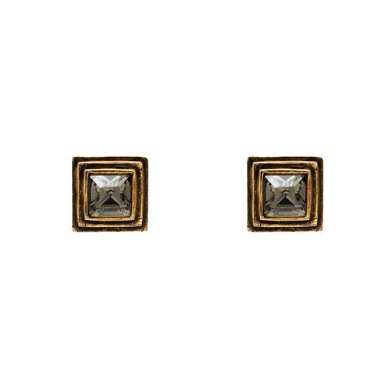 BRINCO-TOP-PIRAMIDE--R--25000-Banho-Ouro-Vintage-com-cristal-Black-Diamond