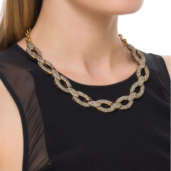 COLAR-SLIM-CHAIN-STRASS-OURO-VINTAGE-MODELO
