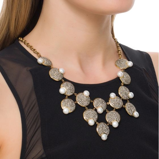 COLAR-PEARL-FLOWER-OURO-VINTAGE-MODELO